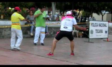 Colombian Spinning top battle competition