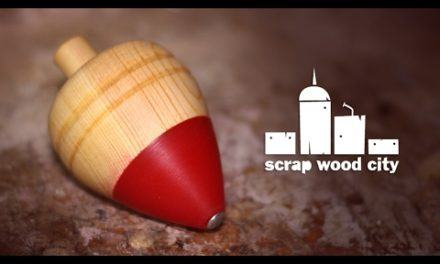 Wood and epoxy resin spinning top, for a good cause